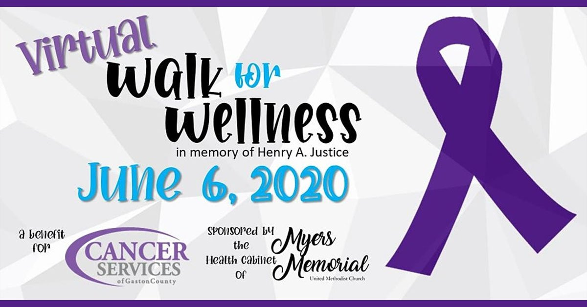 Gaston County Cancer Services 2020 Virtual Walk for Wellness