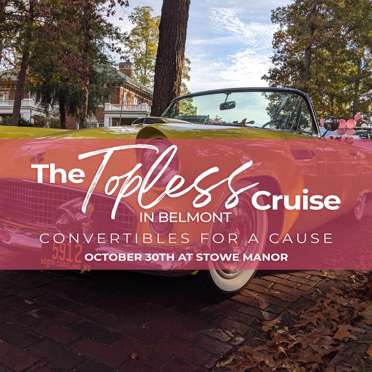 The Topless Cruise in Belmont; Convertibles for a Cause